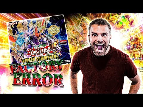 *NEW* YuGiOh FACTORY ERROR Hidden Summoners Box Opening & Review! GODLY!!