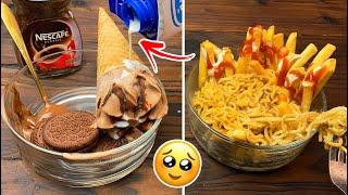 سويت اغرب طبخات المشتركين 😳!! اندومي مع بطاطس مقلية !!🤤