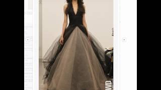 Vera Wang Fashions Black Wedding Dress