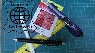 Leder Tipps #2: Lederwerkzeug Grundausstattung