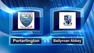 Portarlington Vs Ballyroan Abbey