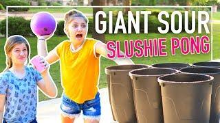 Giant SUPER SOUR SLUSHIE PONG Challenge