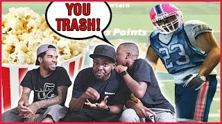 GET YOUR POPCORN! BROTHERS FIGHTING OVER MADDEN! - Madden 05 Mini Games   Swat Ball