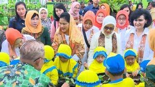 Ibu Negara Iriana Joko Widodo Mengunjungi PAUD Muslimat Khadijah Rogojampi