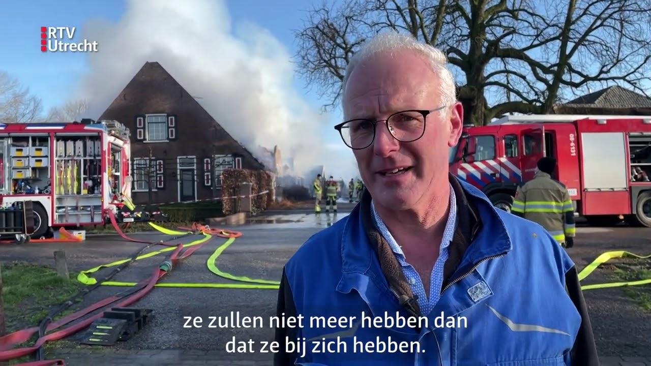 Woning in Leerdam volledig uitgebrand: 'De klap komt waarschijnlijk pas morgen' [RTV Utrecht]