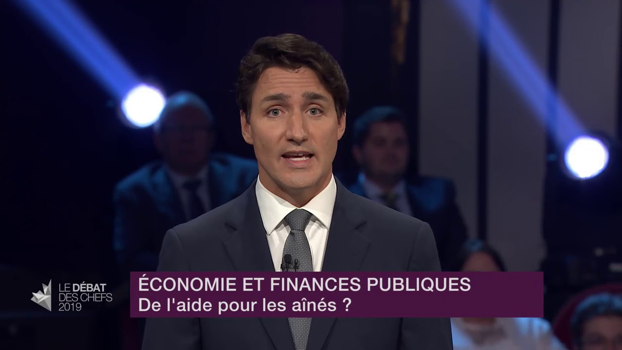 Justin Trudeau answers a question about financial help for seniors