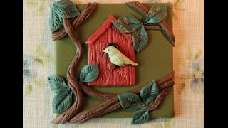 Polymer Clay Mini Picture Series - #2 Bird House