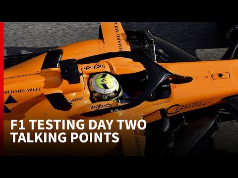 F1 testing day two: Ferrari's joy, McLaren concerns, Red Bull's and Renault's dramas