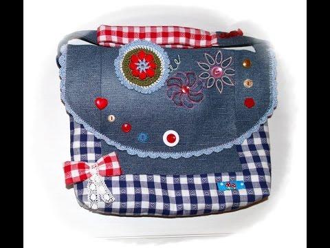 Käthes Nähstunde DIY/ Upcycling Kindergartentasche Nähen für Anfänger
