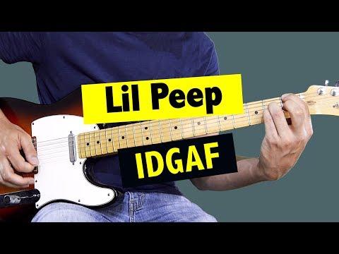 Lil Peep - IDGAF // Guitar Lesson (+ FREE TAB)