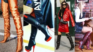 Awesome Collection Of Latex&leather High Heel Stilleto Thigh High Boots Designs Ideas #2020