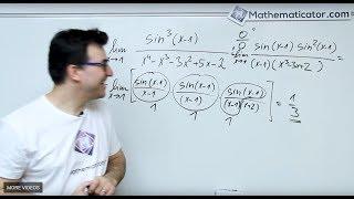 Limita funkce - sinus na třetí lomeno polynom 4. řádu - Základní limita pro sinus