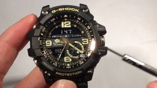 Casio G-Shock GG1000 Mudmaster Hands On Function Demo, Not Unboxing or Review, GG-1000-GB vs GA-1000