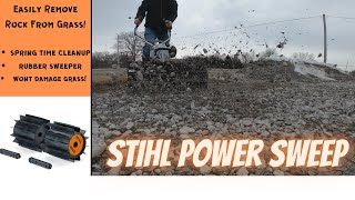 Easy And Fast Rock Removal From The Yard - Spring Cleanup Stihl Yard Boss