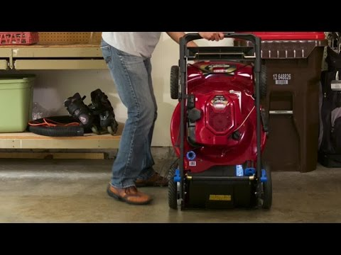 Toro® SmartStow® Mower with Personal Pace Self Propel
