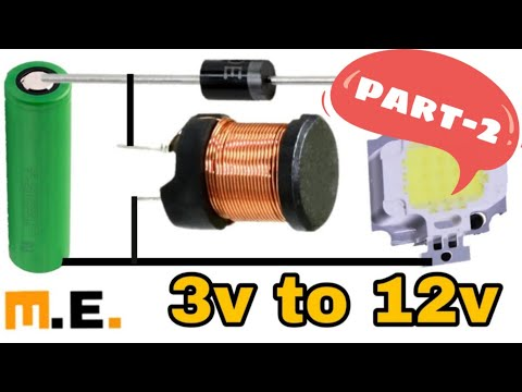 how to make 3v to 12v boost converter(science project