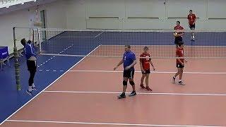 Волейбол. Нападающий удар. Команды Спортшкола и Автоцентр