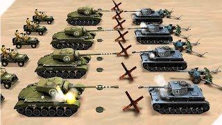 СЛОЖНАЯ БИТВА ТАНКОВ - WW2 Battle Simulator # 15