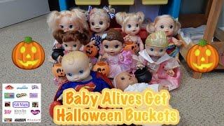 Baby Alives Get Halloween Buckets