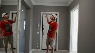 Несложный ремонт квартиры(стены под покраску, парящие потолки, 3D панели, скрытая подсветка)