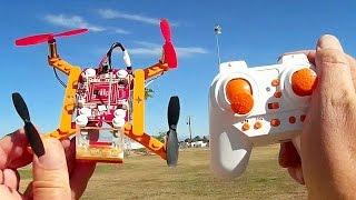 DIY Building Block Drone Flight Test Review