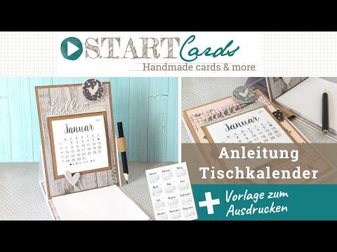 Tischkalender mit Notizblock — Anleitung