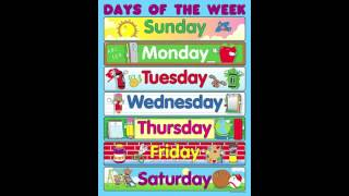 Days Of The Week Song For Kids - Syx Synce & Zariah (Daughter)