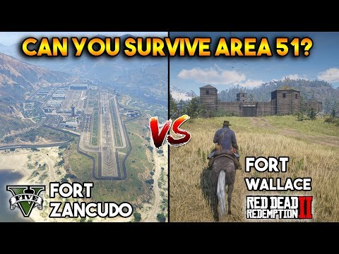 GTA 5 FORT ZANCUDO VS RDR 2 FORT WALLACE : WHICH IS BEST?