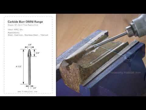 FindBuyTool Carbide Burr SF-3L4 Tree Radius End OMNI Range Head D 3/8 x 3/4L, 1/4 Shank, 4-1/3 Inch Full Length