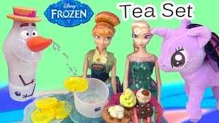 Disney Olaf's Summer Tea Set Water Play Playset Frozen Fever Queen Elsa Princess Anna Party Dolls
