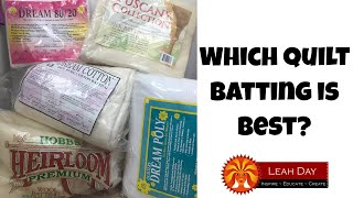 Tips for Picking Quilt Batting - Which Quilt Batting Is Best?