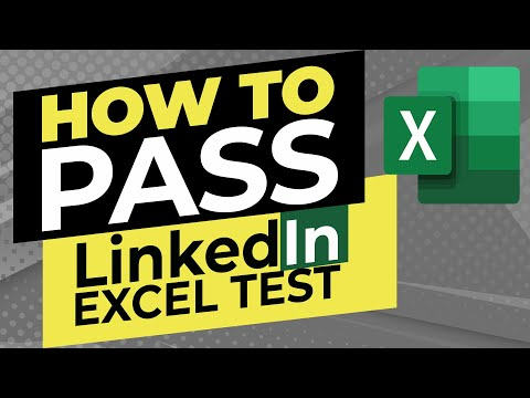 How to Pass LinkedIn Excel Test: Tips, Tricks and Hacks - YouTube