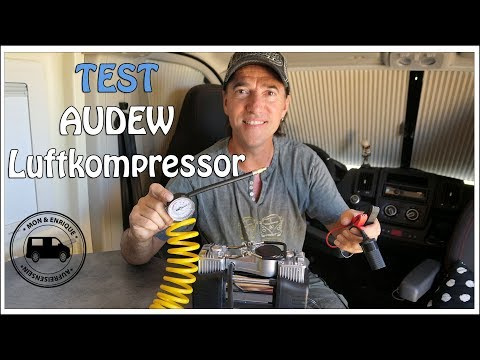 Produkttest – Audew tragbarer Luftkompressor 12 V mit Doppelzylinder