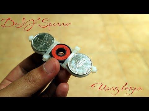 Video Cara mudah membuat fidget spinner dari uang logam easy diy spinner