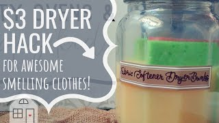 TUTORIAL: DIY Dryer Sheets | Dryer Fabric Softener | Make Clothes Smell Amazing | Dollar Tree Hack