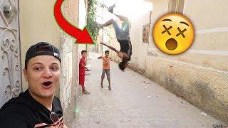 شوفو ردت فعل الأطفال على أحمد يتشقلب على الجدار !!! 🔥🤸♀️