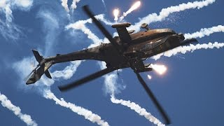 Apache Attack Helicopter (AH-64) Shoot to Thrill (AC/DC)