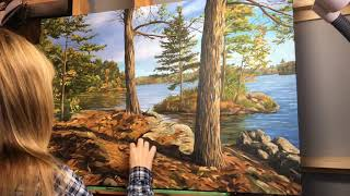 Painting time-lapse Video