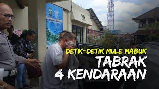 Detik-detik Bule Amerika Mabuk di Bali Tabrak 4 Kendaraan, Kejar-kejaran Warga hingga Dilempari Batu