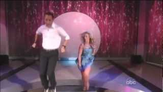 Helio Castroneves & Chelsie Hightower dancing  Jive on The View 10 11 12