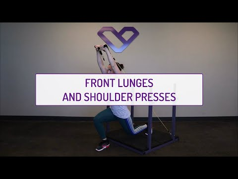 Front Lunges and Shoulder Presses