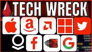 🚨📉 Tech မှဖျက်ဆီးခြင်း !! ဘာဖြစ်တာလဲ?? Apple / Amazon / Nvidia / AMD အပေါ်နည်းပညာဆိုင်ရာသုံးသပ်မှု