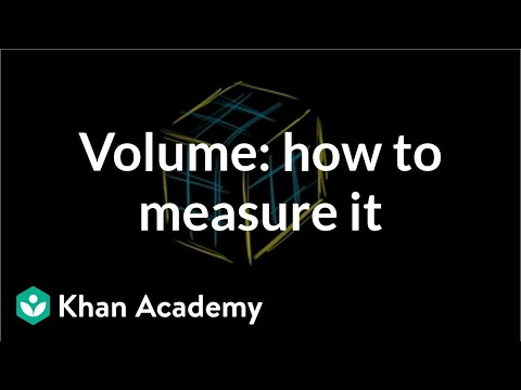Volume intro: how we measure volume | Math (video) | Khan