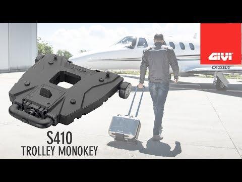 GIVI presente le nouveau Trolley S410 adapt pour toutes les valises de la gamme Monokey et bagagerie souple