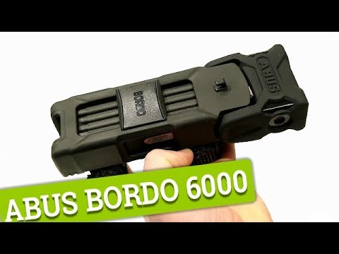 ABUS BORDO 6000 Bicycle Lock - A look, feature review, and weight