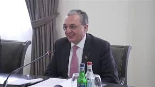 ԱԳ նախարար Զոհրաբ Մնացականյանի հանդիպումը Եվրոպայի խորհրդի գլխավոր քարտուղարի տեղակալ Գաբրիելա Բատաինի-Դրագոնիի հետ
