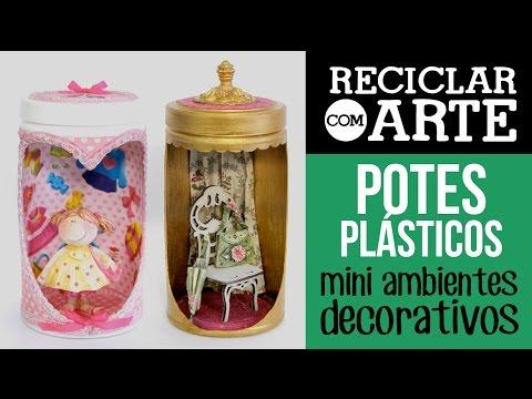 Ambientes em pote plástico