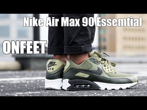 ONFEET Nike Air Max 90 Essential Olive\Black Review | sneakers.by