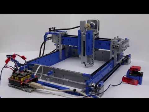 LEGO® Mindstorms EV3 plotter drawing a Hilbert Curve