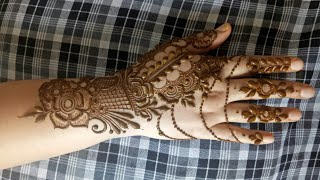 Modern Leaf Henna Design 2017 123vid